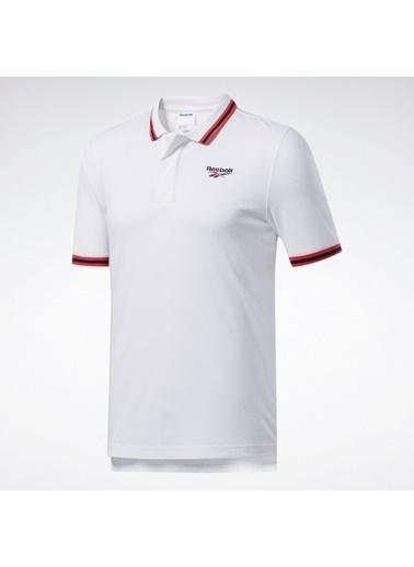 Reebok Unisex Beyaz Cl D Polo Yaka  Tişört FK2550 Beyaz